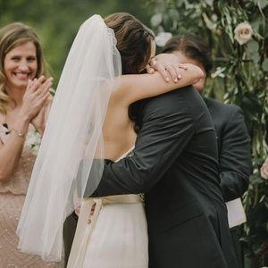 Fingertip wedding veil, Light Ivory